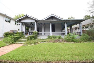 Houston Single Family Home For Sale: 617 Byrne Street