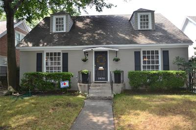 Houston Single Family Home For Sale: 2405 Albans Road