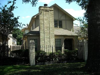 Houston Single Family Home For Sale: 6721 Tournament Drive
