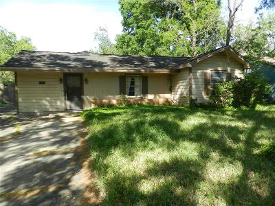 Houston Single Family Home For Sale: 5211 Cosby Street