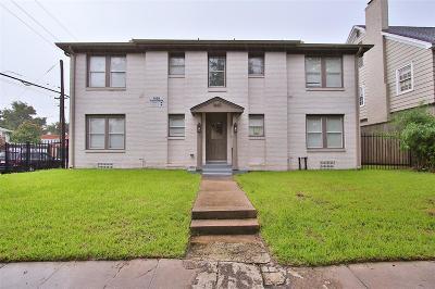 Houston Multi Family Home For Sale: 1660 Hawthorne Street #8