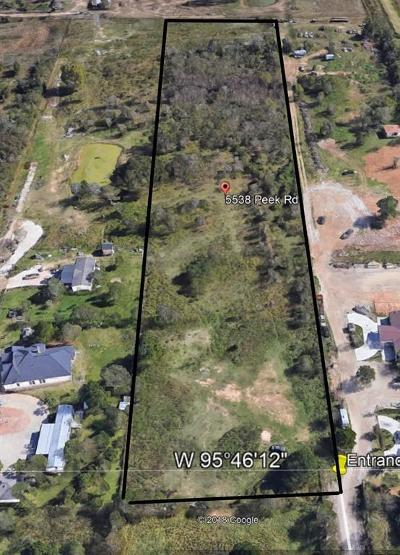 Katy Residential Lots & Land For Sale: 5538 Peek Road