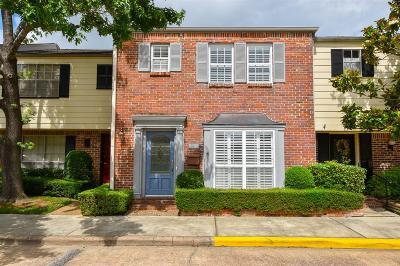 Houston Condo/Townhouse For Sale: 6348 Del Monte Drive #84