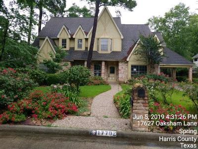 Spring Single Family Home For Sale: 17702 Oaksham Lane