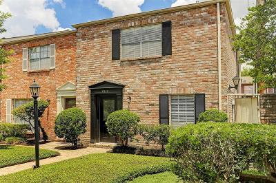 Houston Condo/Townhouse For Sale: 6415 Burgoyne Road