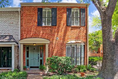 Houston Condo/Townhouse For Sale: 626 Augusta Drive #626
