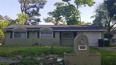 Houston TX Single Family Home For Sale: $99,000