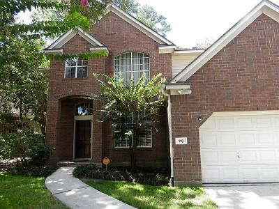 The Woodlands Single Family Home For Sale: 118 S Indigo Circle