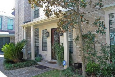 Houston Condo/Townhouse For Sale: 1815 Potomac Drive #B