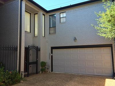 Houston Condo/Townhouse For Sale: 2308 Nantucket Drive #D