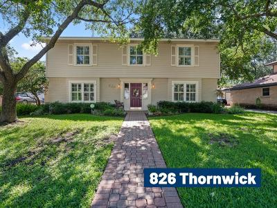 Memorial Single Family Home For Sale: 826 Thornwick Drive