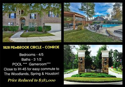 Conroe Single Family Home For Sale: 1828 Pembrook Circle