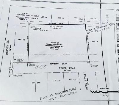 Harris County Residential Lots & Land For Sale: Tidwell Road