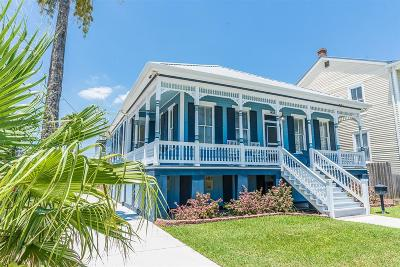 Galveston Single Family Home For Sale: 1428 Mechanic Street