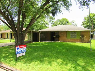 Houston TX Single Family Home For Sale: $119,900