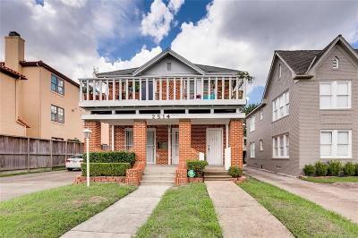 Houston Multi Family Home For Sale: 2514 Kingston Street