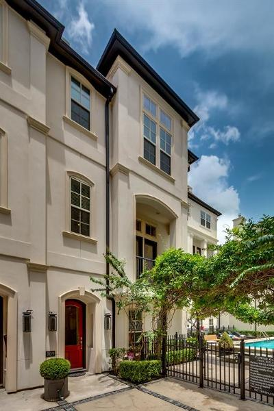 Houston Condo/Townhouse For Sale: 709 Live Oak Street