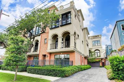 Houston Condo/Townhouse For Sale: 2510 Mandell Street #A