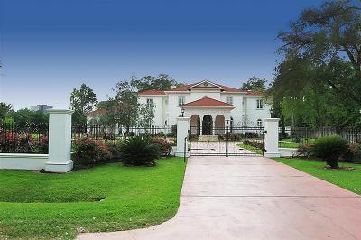 Houston Single Family Home For Sale: 1 E Rivercrest Drive