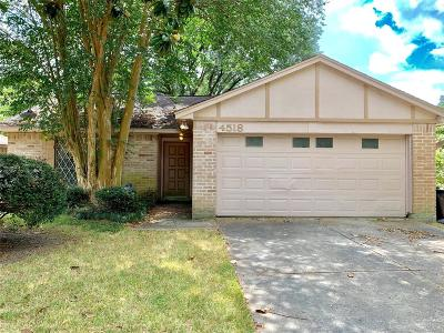 Spring Single Family Home For Sale: 4518 Hickorygate Drive