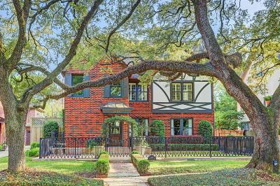 Houston Single Family Home For Sale: 2035 South Boulevard