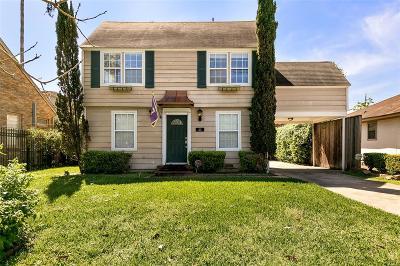 Houston Single Family Home For Sale: 1810 Dunlavy Street