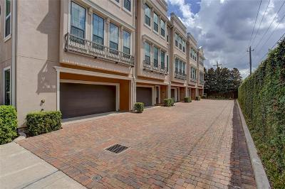 Houston Condo/Townhouse For Sale: 3302 Audley Street #123