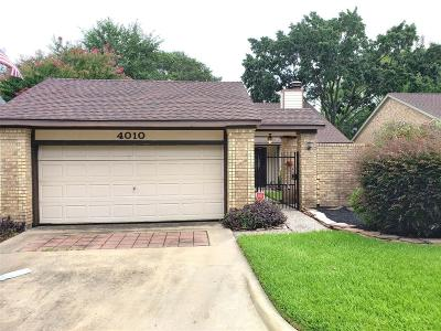 Houston Single Family Home For Sale: 4010 Heathersage Drive