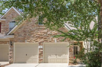 The Woodlands Condo/Townhouse For Sale: 162 Wintergreen Trail