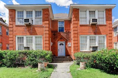 Houston Multi Family Home For Sale: 1810 & 1812 W Alabama Street