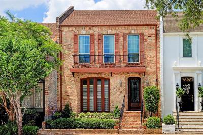 Houston Condo/Townhouse For Sale: 7530 Del Monte Drive