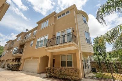 Houston Condo/Townhouse For Sale: 3302 Jackson Street