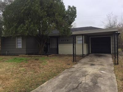 Houston Single Family Home For Sale: 5778 Belcrest Street