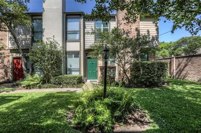 Houston Condo/Townhouse For Sale: 1201 McDuffie Street #116