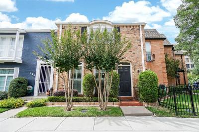 Houston Condo/Townhouse For Sale: 697 N Post Oak Lane #697