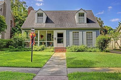Houston TX Single Family Home For Sale: $879,000