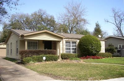 Houston Single Family Home For Sale: 3914 Purdue