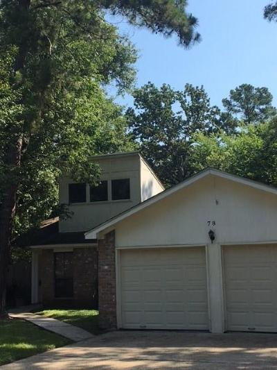 The Woodlands Single Family Home For Sale: 78 W White Willow Circle