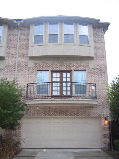 Houston Condo/Townhouse For Sale: 3912 Floyd Street #B