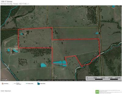 Navasota Farm & Ranch For Sale: 120.17 Acres Cr 419