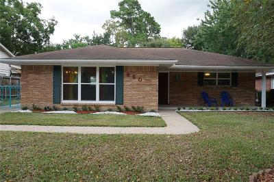 Houston Single Family Home For Sale: 850 Judiway Street