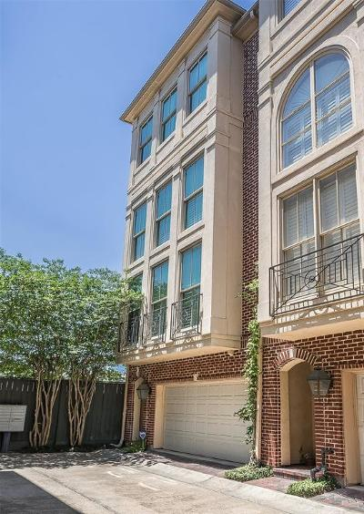 Houston Condo/Townhouse For Sale: 2518 South Boulevard #B