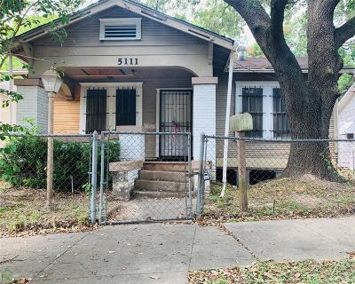 Houston Single Family Home For Sale: 5111 Walker Street