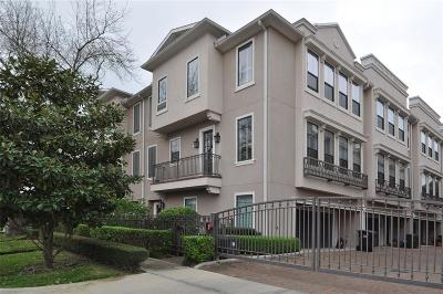 Houston Condo/Townhouse For Sale: 3302 Audley Street #112