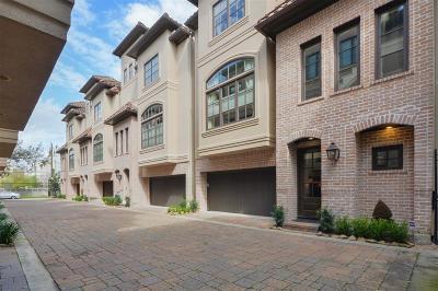 Houston Condo/Townhouse For Sale: 5027 La Branch Street