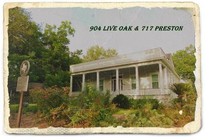 Columbus Single Family Home For Sale: 904 Live Oak And 717 Preston Street