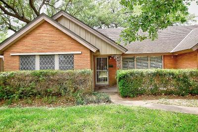 Houston TX Single Family Home For Sale: $110,000