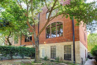 Houston Condo/Townhouse For Sale: 3300 Taft Street #G