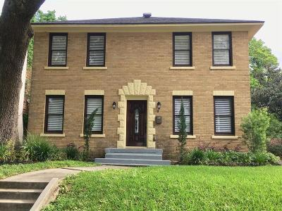 Houston Single Family Home For Sale: 2613 Wichita Street