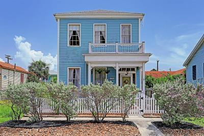Galveston Single Family Home For Sale: 1121 Market Street